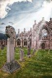 Melroseabbotskloster - ett ställe som blir till slutet royaltyfria bilder