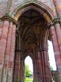 Melroseabbotskloster, Skottland Arkivfoto