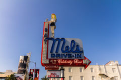 Mels Drive Inn Sign in Hollywood Royalty Free Stock Photo