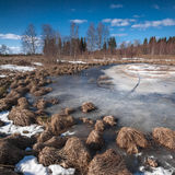 Melt весны лед на озере Стоковое Изображение RF
