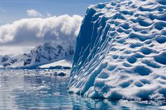 Melt structured iceberg Royalty Free Stock Photography