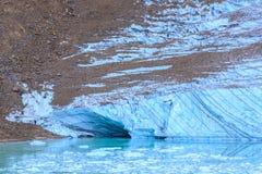 Melt-water lake below Mount Edith Cavell Stock Image