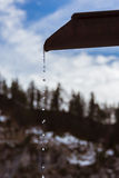 Melt-water in mountains Stock Images