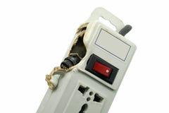 Meltdown and Burn Power Bar Plug Royalty Free Stock Image