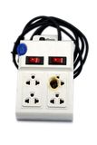 Meltdown and burn power bar plug. For safety concept Royalty Free Stock Photography