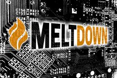 Meltdown with circuit board concept background royalty free illustration