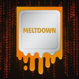 Meltdown vulnerability concept Royalty Free Stock Images