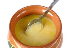 Melted butter (ghee) Royalty Free Stock Photography