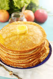 Melted butter on pancakes Royalty Free Stock Photos