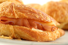 Melted Cheese Croissant 4 Stock Photo