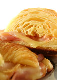Melted Cheese Croissants Stock Photos