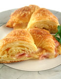 Melted Cheese And Ham Croissant Royalty Free Stock Photography