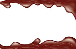 Melted chocolate. Melted sugar chocolate isolated on white vector illustration