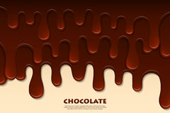 Melted chocolate abstract. Decoration background Stock Photography