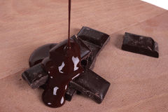 Melted chocolate bar Royalty Free Stock Photography