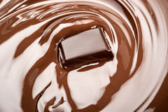Melted chocolate. Bar in swirl Royalty Free Stock Image