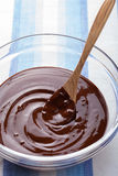 Melted chocolate for cooking. Melted dark chocolate for cooking Royalty Free Stock Photo