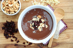 Melted Chocolate with Dried Fruit & Nuts Royalty Free Stock Photo