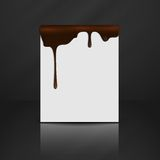 Melted Chocolate Dripping. Royalty Free Stock Photography