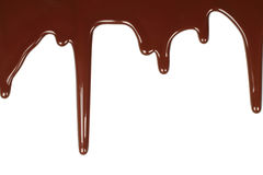 Melted chocolate dripping Stock Photos