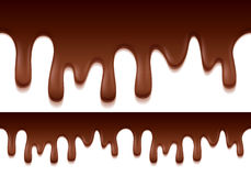 Melted chocolate drips. Stock Photo
