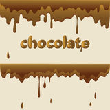 Melted chocolate and drops. vector illustration