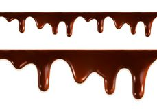 Melted chocolate vector Stock Images