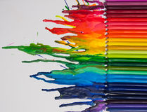 Melted crayon art Royalty Free Stock Photos