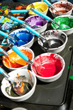 Melted Crayons Provide Vibrant Paints For Art Projects Royalty Free Stock Image