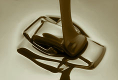 Melted dark chocolate Royalty Free Stock Images
