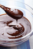 Melted chocolate for cooking. Melted dark chocolate for cooking Royalty Free Stock Photos