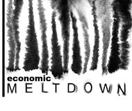 Melted down bar-code. Economic meltdown. Melted down bar-code. Economic recession concept Royalty Free Stock Photos