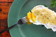 Melted egg benedict Stock Image