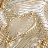 Melted Flowing Gold Stock Photography
