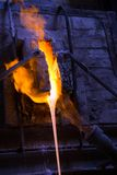 Melted glass furnace Royalty Free Stock Photos