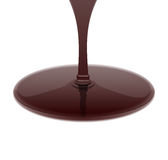 Melted hot chocolate syrup leaking on white background. Vector i Stock Images