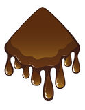Melted milk chocolate Stock Photography