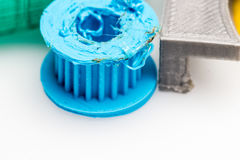 Melted part, bad 3d Printed prototype royalty free stock photography
