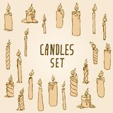 Melted Shaped Candles Set Royalty Free Stock Image