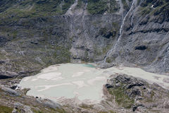 Melted snow in Grossglockner glacier, the highest mountain of Au Royalty Free Stock Image