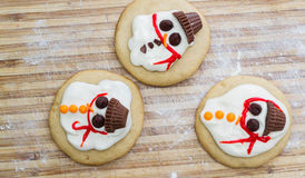 Melted snowman cookie Royalty Free Stock Photos
