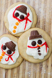 Melted snowman cookie Stock Image