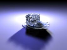 Melting. A melting Ice Cube. 3D rendered stock illustration