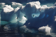Melting Antarctic ice. With cavities Stock Images