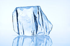 Melting blue ice block Royalty Free Stock Photos