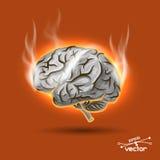 Melting brain Royalty Free Stock Image
