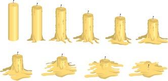 Melting candle Royalty Free Stock Image