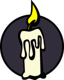 melting candle vector illustration Royalty Free Stock Image