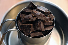 MELTING CHOCOLATE Stock Photography