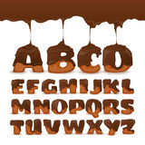Melting Chocolate  Alphabet Cookies Collection Poster Royalty Free Stock Image